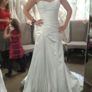 Maggie Sortero Madison satin wedding dress
